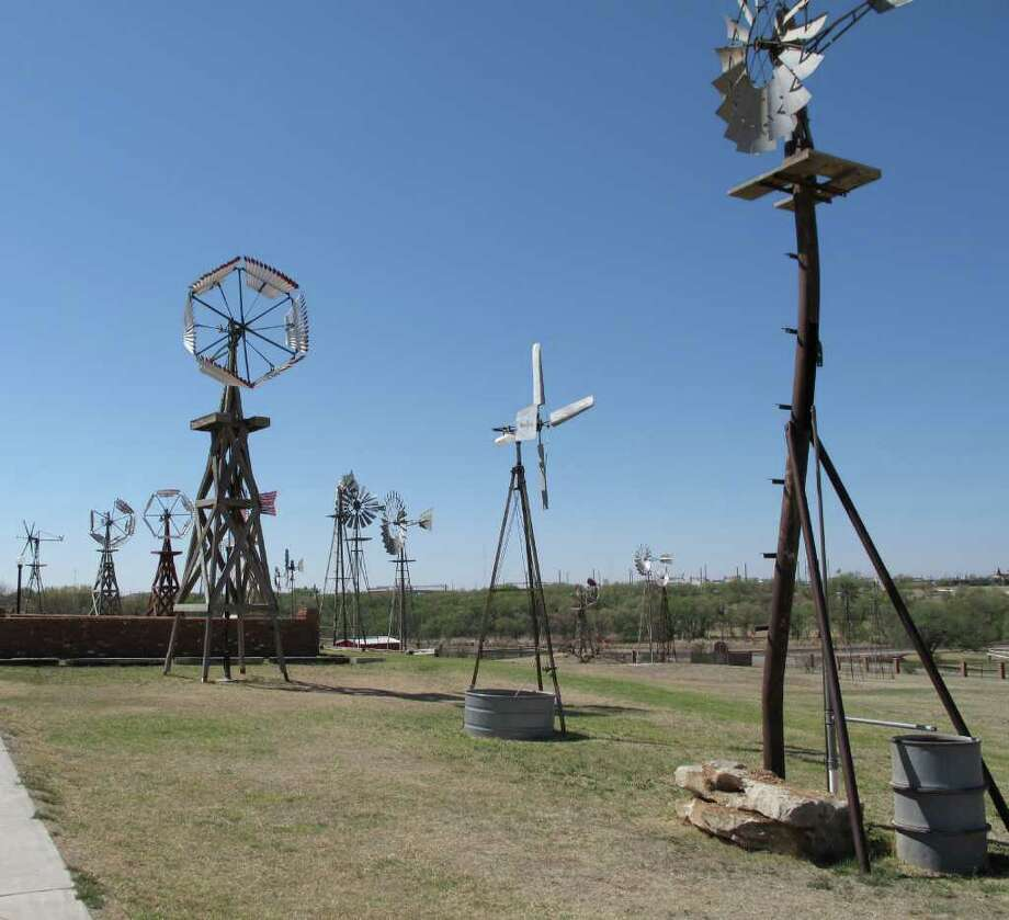 American Wind Power Center in Lubbock shows a variety of wilndmill styles. www.windmill.com or 806-747-8734. Photo: Judy Wiley / For The Express-News