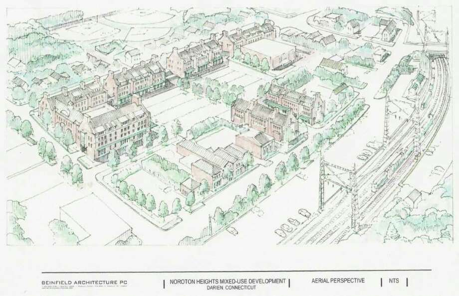 This sketch, created by Beinfield Architecture, was included in the proposal for the Noroton Heights Mixed Use Zone approved by the Planning & Zoning Commission in 2010. Photo: File Photo