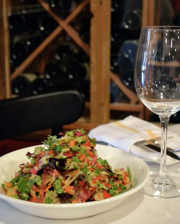 Boulevard 18 in New Canaan offers French food. Pictured is a salad of chopped vegetables. Photo: Contributed Photo