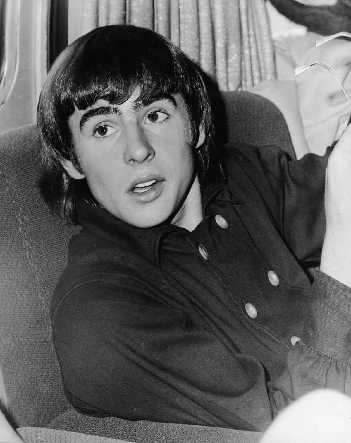 British musician and actor Davy Jones, in a double-breasted shirt, of the popular music and television group the Monkees, late 1960s.