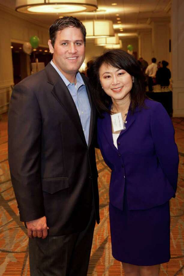 Lance Berkman and Shern-Min Chow (SpringSpirit Board member) SpringSpirit Breakfast at the Westin Galleria ballroom, Wednesday, February 22, 2012. The breakfast benefited SpringSpirit Baseball,  a Houston-based non-profit organization working to mobilize community leaders and other organizations to create a unique community facility that benefits Spring Branch youth through baseball, softball and educational programs. Photo: Bruce Bennett / Houston Chronicle