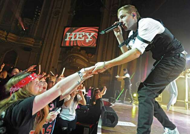 Kendall Schmidt of Big Time Rush sings to a sold out audience at the Palace Theatre Tuesday, Feb. 28, 2012 in Albany, N.Y. (Lori Van Buren / Times Union) Photo: Lori Van Buren