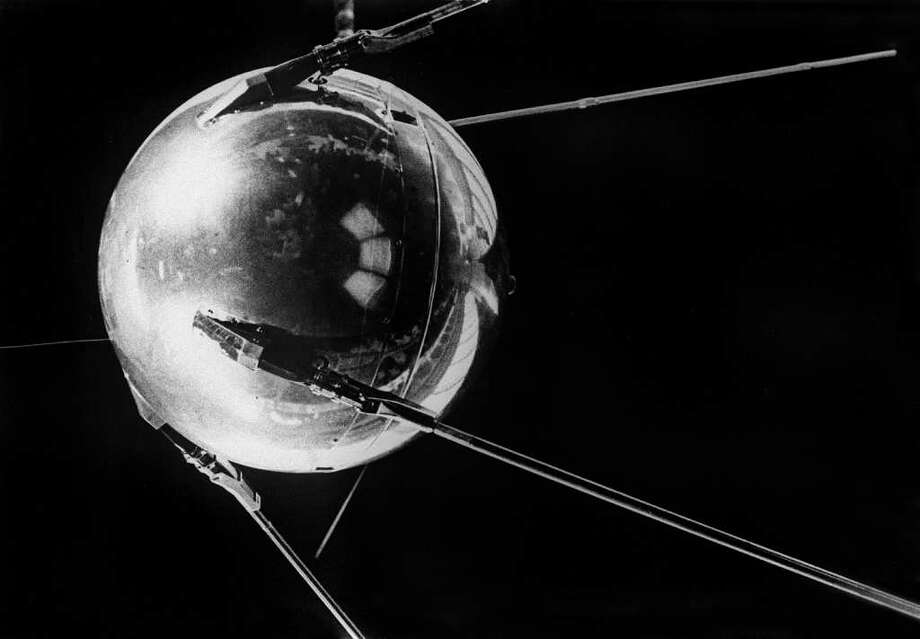 The Soviet Union's Sputnik I became the first artificial satellite launched into orbit, on Oct. 4, 1957. The Sputnik rocket was a version of the R-7, the world's first intercontinental ballistic missile. Photo: OFF, AFP/Getty Images / 2007 AFP