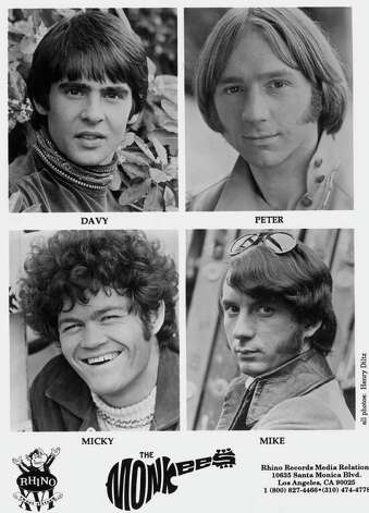 THE MONKEES, FROM TOP LEFT, CLOCKWISE :  DAVY JONES, PETER TORK, MIKE (MICHAEL NESMITH)  AND MICKY (MICKEY DOLENZ). Photo: HENRY DILTZ / HANDOUT PRINT 1994