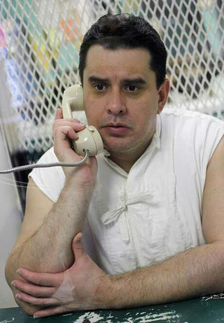 In this Wednesday, Feb. 15, 2012, photo,  George Rivas speaks about his part in the crime rampage by the Texas Seven from death row in the Allan Polunsky Unit prison in Livingston, Texas. On Dec. 13, 2000, Rivas' gang overpowered workers at the Texas Department of Criminal Justice Connally Unit prison in Kenedy and stole the workers' clothes, broke into the prison's armory to get guns,  and drove away in a prison truck. They committed several robberies, including two in Houston, and then 11 days later, gunned down Aubrey Hawkins, 27. Rivas is set for execution Wednesday, Feb. 29, 2012. Photo: AP