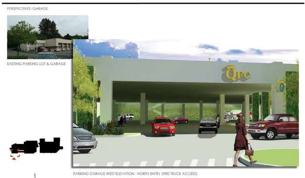 Here's another view of the third entrance into the parking area. Photo: QFC And MulvannyG2 Architecture, Via City Of Seattle.