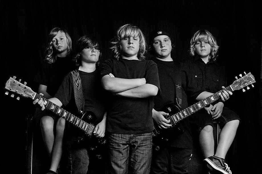 Members of the Pacifica rock band Haunted by Heroes (formerly The Thrashers) are, from left to right: Brandon, Geddy, Nick, Charley and Chris Photo: Robert John