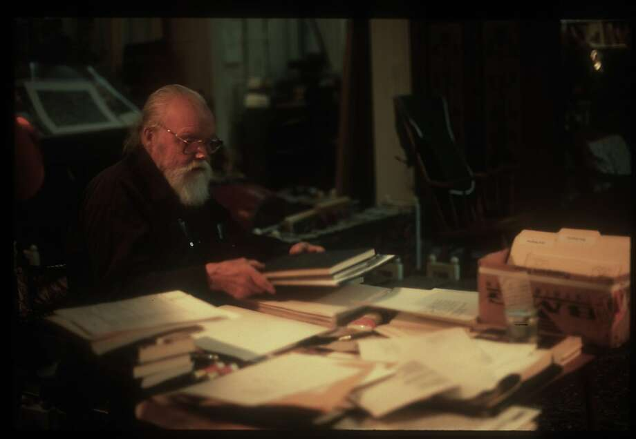 Lou Harrison in his studio in Aptos Photo: Eva Soltes