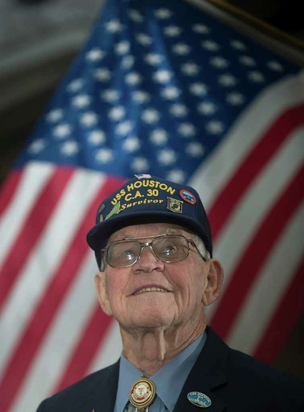 Howard Brooks, now 92, is coming from Mount Laurel, N.J., for the USS Houston ceremony.