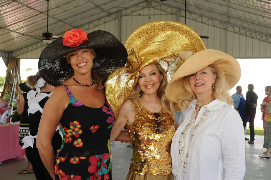 Pictured at last year's Tea on the Lawn are, from left, are: Renell Pedigo, Lyn Hawthorne and Garlaine Kelly. / (c)  MARY KRISTEN PHOTOGRAPHY