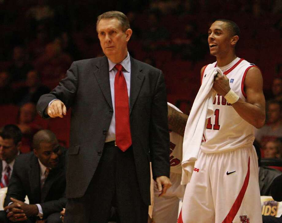 The University of Houston's head coach James Dickey is excited for the increase in TV coverage for the upcoming season. Photo: James Nielsen, Chronicle / © 2011 Houston Chronicle