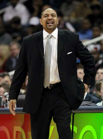 Golden State Warriors head coach Mark Jackson directs his players against the Atlanta Hawks during an NBA basketball game, Wednesday, Feb. 29, 2012, in Atlanta. The Warriors won 85-82. Photo: John Bazemore, Associated Press