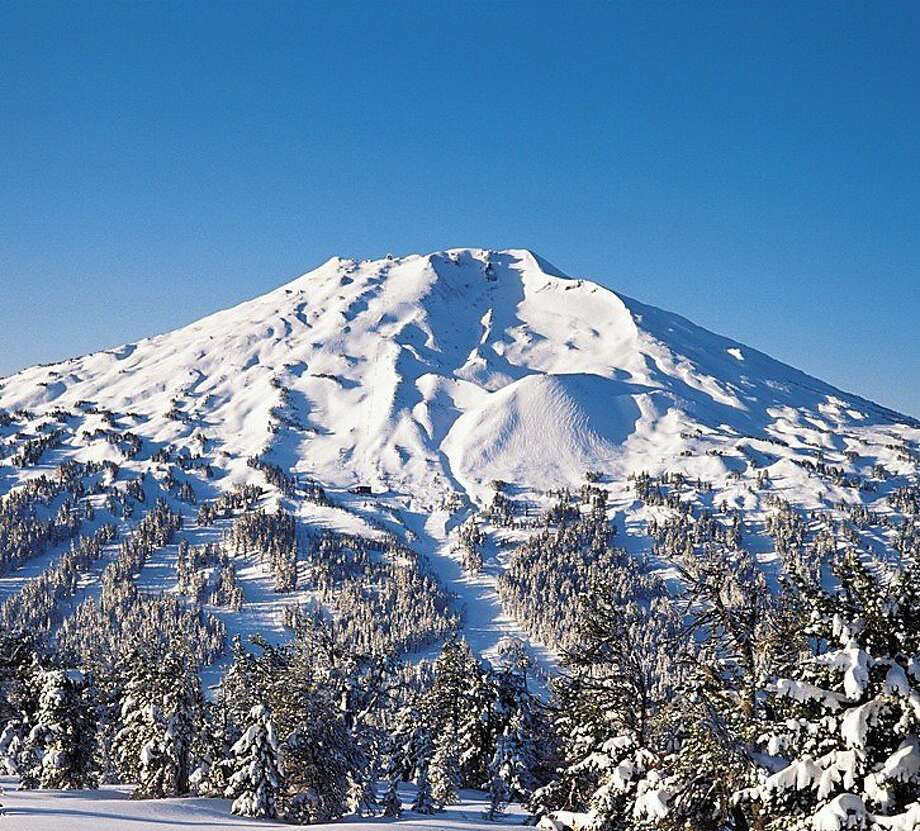 Mount Bachelor in the Cascade Range offers skiing in all directions and for every level. Photo: Courtesy Of Mt. Bachelor