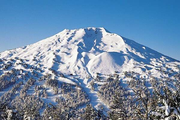 Mt. Bachelor offers skiing and snowboarding near Bend, Ore.