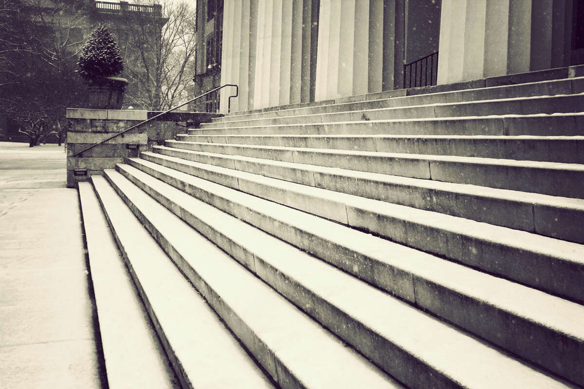 Snow at Sage College in Troy. (Jessica Tabora)