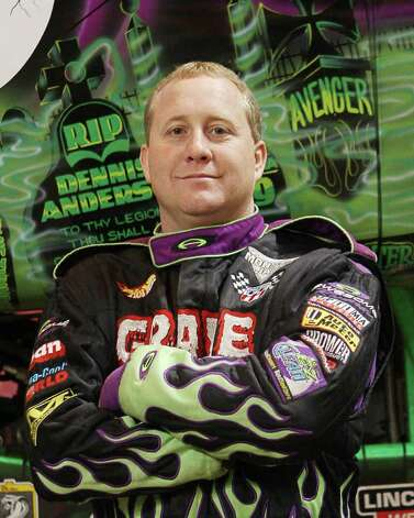Meet your doom: Randy Brown, who drives Grave Digger, will be among the  Monster Jam Monster Truck Racing stars rolling into Webster Bank Arena at Harbor Yard in Bridgeport on Sunday, March 4. Photo: Contributed Photo