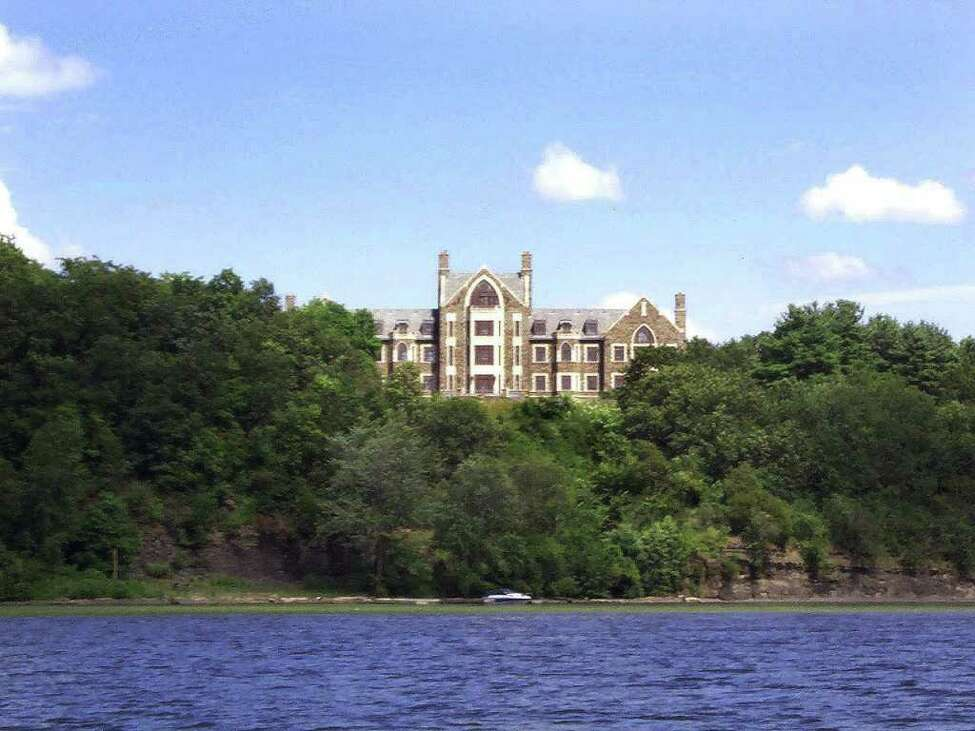 Times Union Staff Photo byTom Palmer --Photo of 'Llenroc,' the home of Al and Barbara Lawrence in Rexford, NY, taken from the Mohawk River in the summer of 1999.