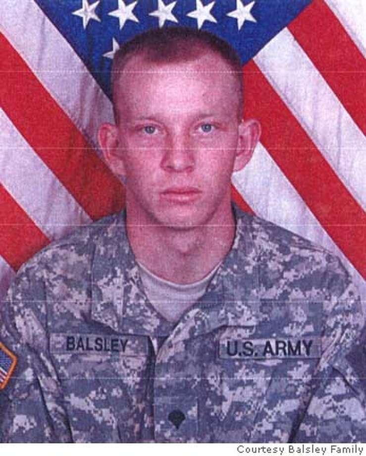 Pfc Michael Balsley died in Iraq on Thursday, January 25 when a roadside bomb exploded under his humvee. Photo: Courtesy Balsley Family