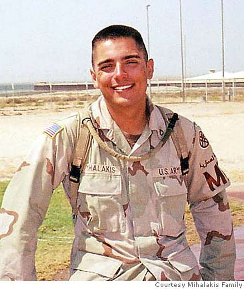 Michael G. Mihalakis, 18, of San Jose, Calif., shown in an undated family photo, died Friday, Dec. 26, 2003 in Baghdad, of injuries sustained in a non-combat car accident at Baghdad International Airport. He was assigned to the 270th Military Police Company out of the National Guard based in Fairfield, Calif. (AP Photo/Mihalakis Family via San Jose Mercury News) UNDATED PHOTO; NO SALES Photo: FAMILY PHOTO