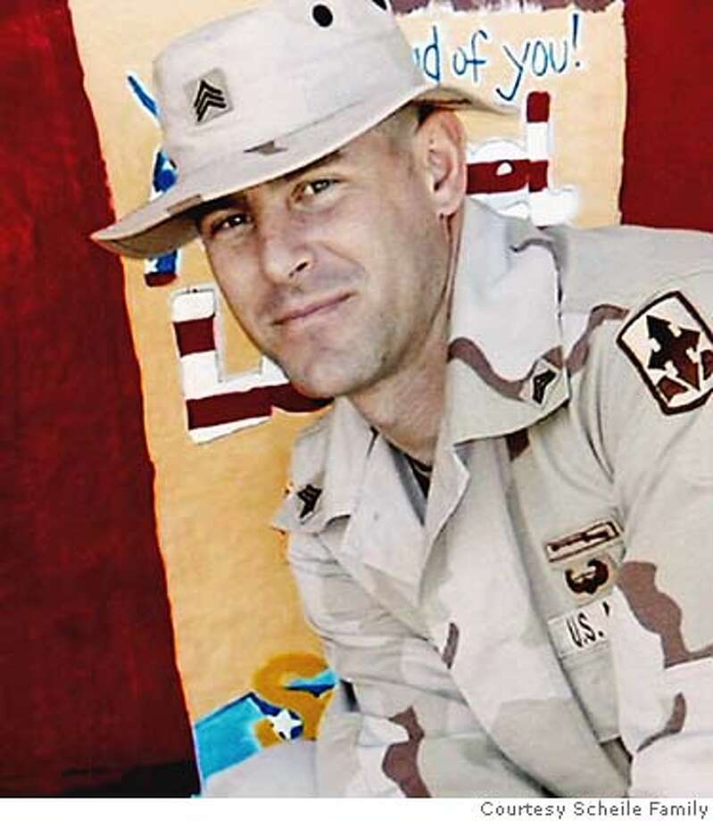 This undated photo provided by the Scheile family, shows of Sgt. Daniel Scheile, of Antioch Calif., who was one of two soldiers killed Saturday, Sept. 24, 2005, after a homemade bomb exploded near their armored vehicle in southeastern Baghdad, military officials said. An active-duty national guardsman for 17 years, Scheile was deployed to Iraq in August 2004 and was assigned to the Army National Guard's 1st Battalion, 184th Infantry. (AP Photo/Scheile family via the Contra Costa Times) NO SALES MAGS OUT Photo: SCHEILE FAMILY
