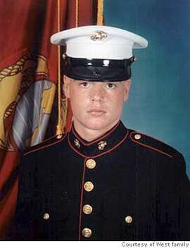 This undated photo provided by the family shows Marine Lance Cpl. Phillip G. West, of American Canyon, Calif. West, 19, was killed in Iraq Friday, Nov. 19, 2004. (AP Photo/Courtesy of West family via The San Francisco Chronicle) UNDATED PHOTO PROVIDED BY THE FAMILY, NO SALES