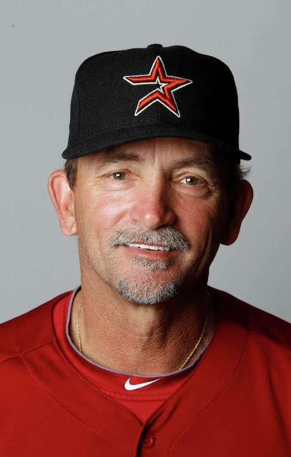 Joe Pettini,bench coach Photo: Karen Warren, Houston Chronicle / © 2012  Houston Chronicle