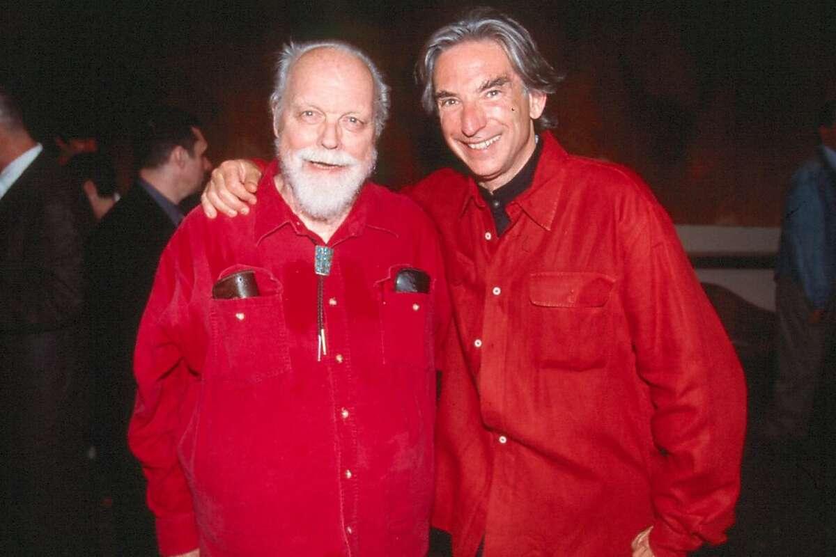 Composer Lou Harrison (left) and Michael Tilson Thomas (right) during the 2000 American Mavericks festival