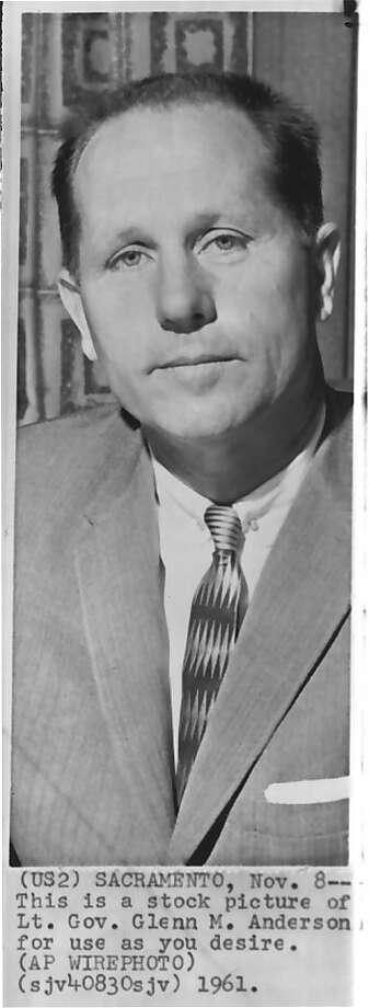 California Lt. Gov. Glenn M. Anderson in 1961. Photo: Associated Press