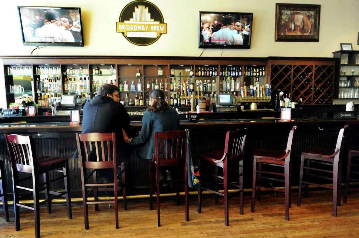 The bar at Broadway Brew on Tuesday, Feb. 28, 2012, in Troy, N.Y. (Cindy Schultz / Times Union)