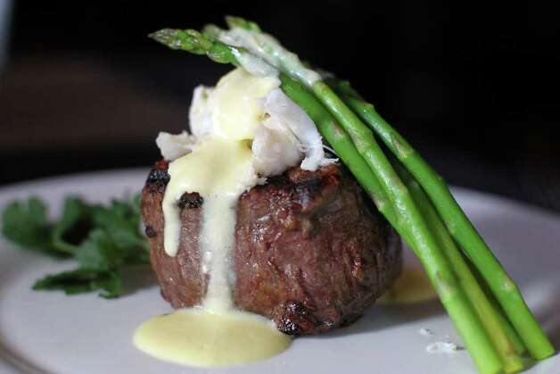 Fillet mignon w/ Oscar topping at Toscana, Wednesday, February 22, 2012. Photo: JENNIFER WHITNEY / special to the Express-News