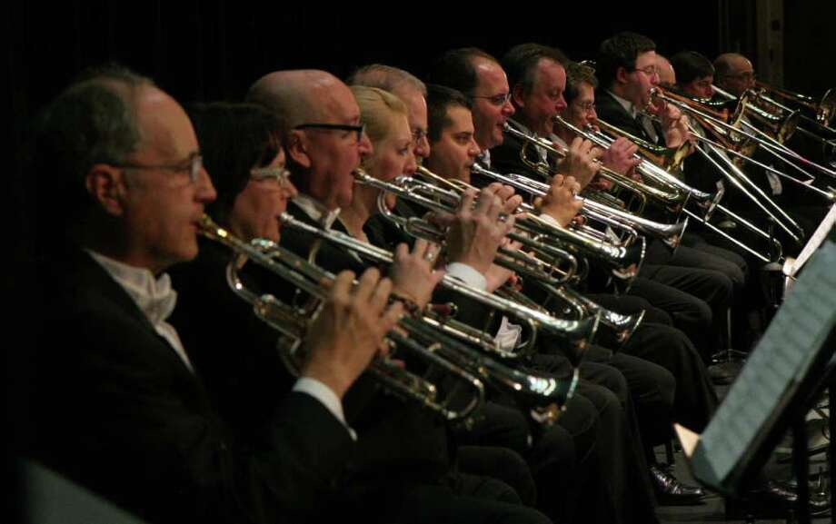 The 73-member Connecticut Symphonic Winds will play Saturday, March 10, at the Fairfield Ludlowe High School Theater. Photo: Contributed Photo
