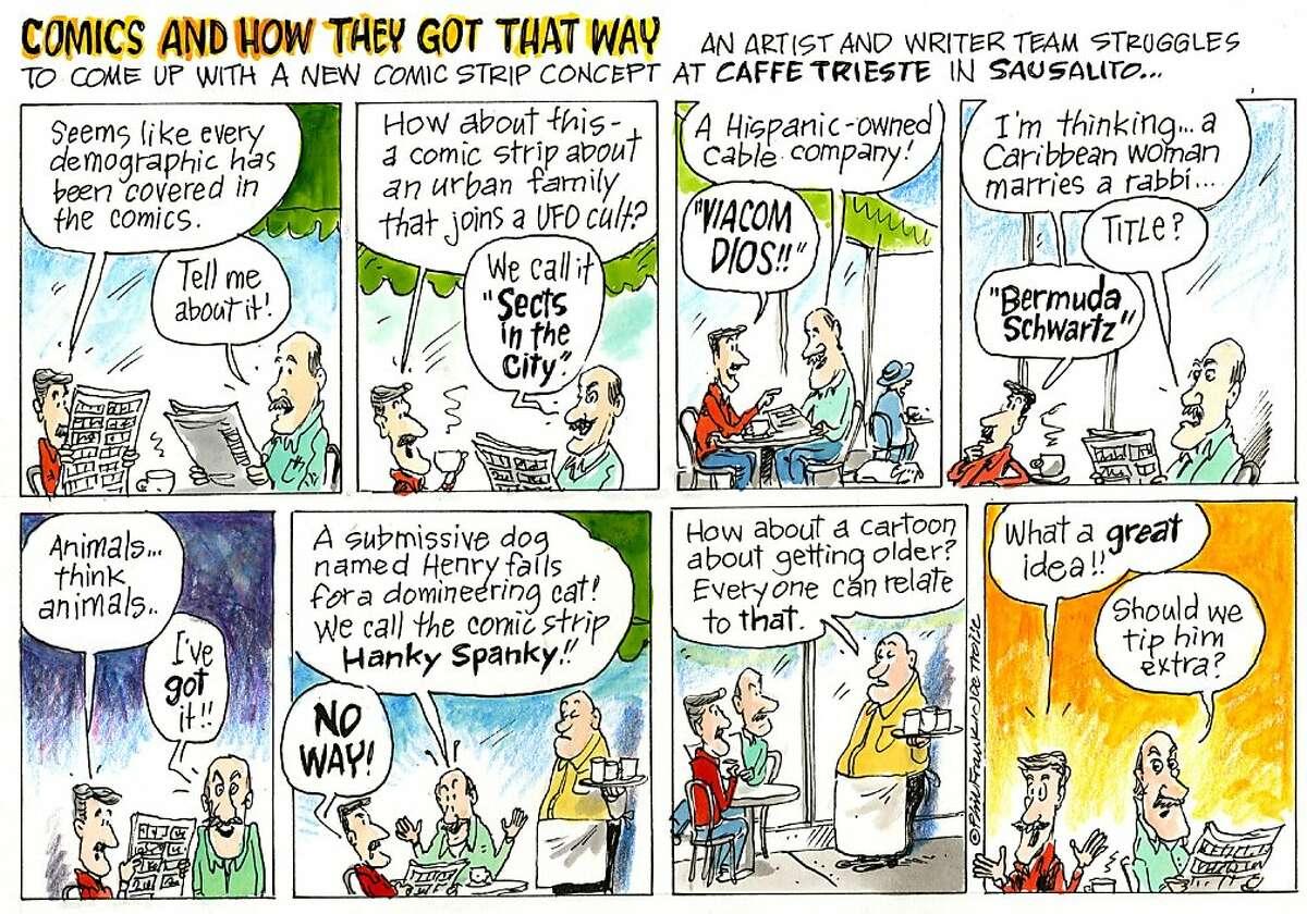 Dec04--Phil Frank's intro illus for Elderberries cartoon. Debut in datebook---