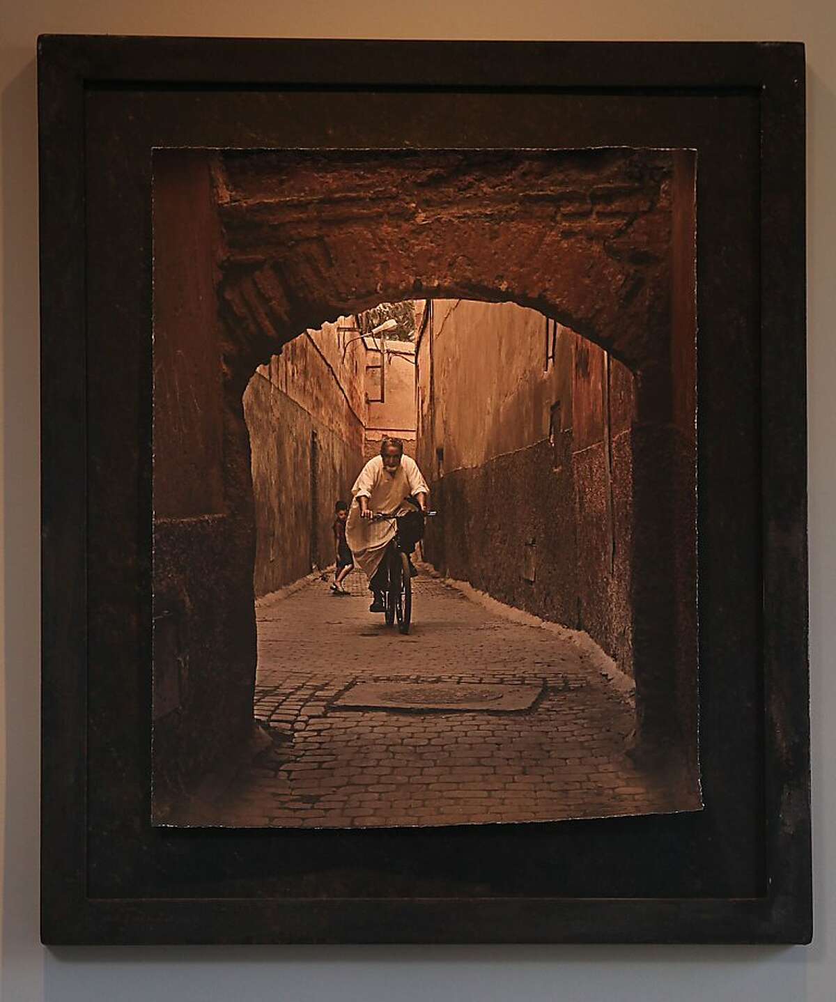 Photo of man on bicycle