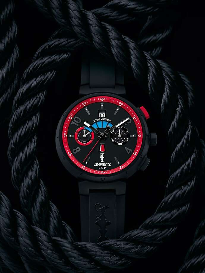 The new Louis Vuitton America's Cup watch, the Tambour Regatta Automatic, one of two specialty watches introduced for the contest, which will be held in San Francisco in 2013. Photo: Louis Vuitton