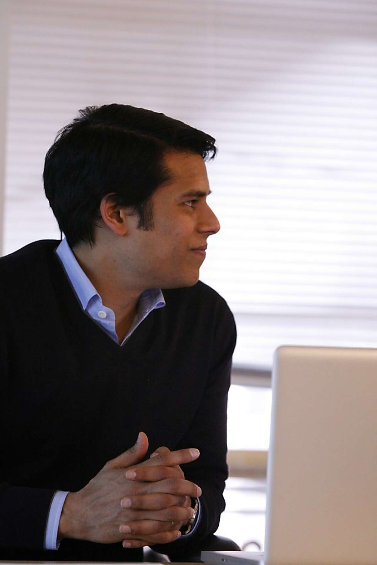 Nirav Tolia - the CEO of Nextdoor at the headquarters downtown San Francisco, California. Nextdoor is a private social network and creates connection between people in different neighborhood. The company lounged Nationally last October and has 30 employees as of today, February 21, 2012.