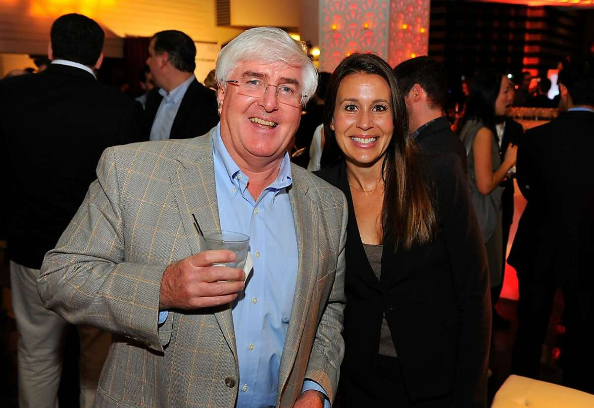 Ron Conway and Heather Harde attend the third annual TechFellow Awards at SFMOMA on Feb. 22.
