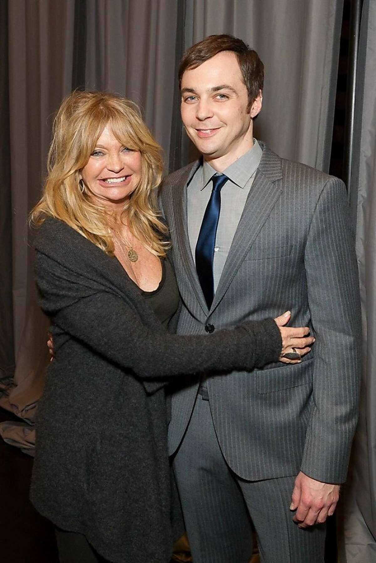 Goldie Hawn and Jim Parsons attend the third annual TechFellow Awards at SFMOMA on Feb. 22.