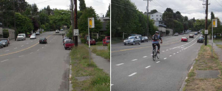 Nickerson Street: Before and after. Photo: Seattle Department Of Transportation