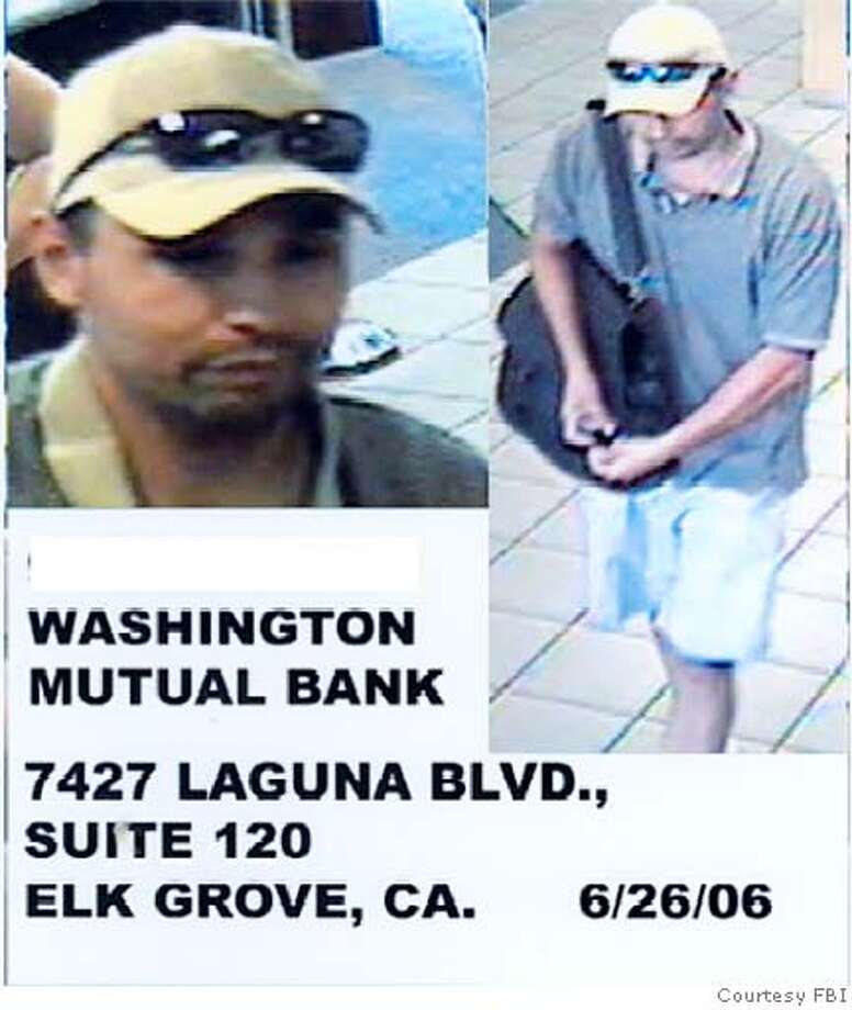 Washington Mutual Bank, 7427 Laguna Blvd., Elk Grove, CA 6/26/06 Courtesy FBI