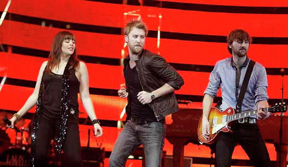Lady Antebellum performs in concert during RodeoHouston on March 11, 2011. Photo: James Nielsen, Houston Chronicle / Houston Chronicle