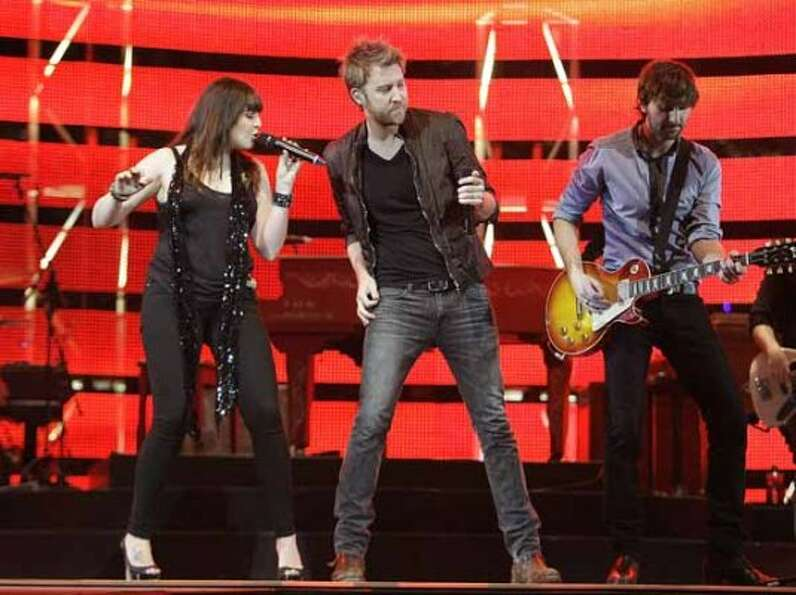 Lady Antebellum performs in concert during RodeoHouston on March 11, 2011. (James Nielsen / Houston