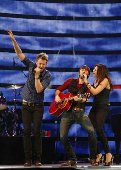 Lady Antebellum performs at the Houston Livestock Show and Rodeo on March. 15, 2010. (Mayra Beltran