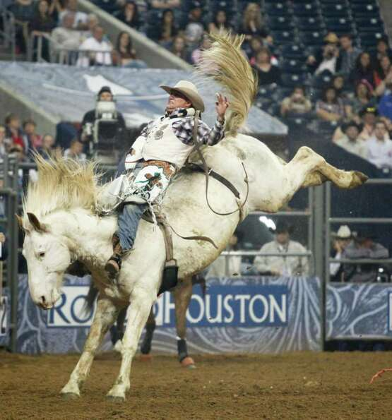 Heath Ford rides March 1, 2012 in Houston at Rodeo Houston during the Rodeo Houston BP Super Series