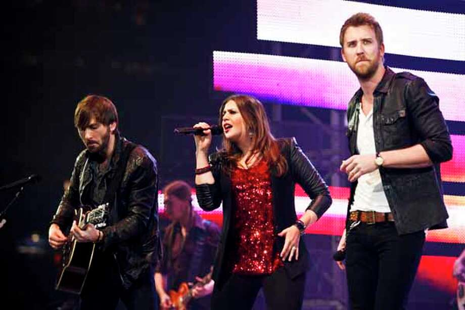 Lady Antebellum plays March 1, 2012, following the RodeoHouston BP Super Series I championship round. Photo: Eric Kayne, For The Chronicle / ©2012 Eric Kayne
