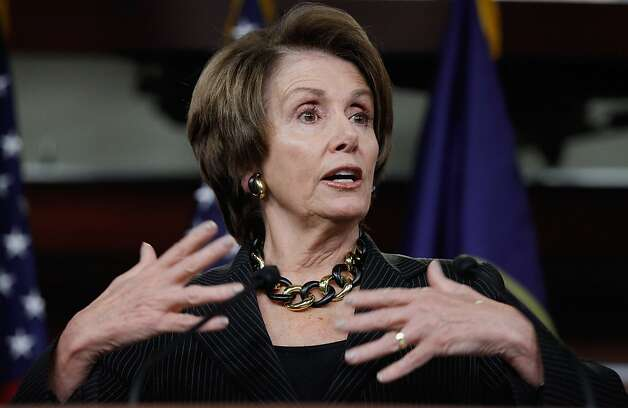 House Minority Leader Nancy Pelosi (D-CA) holds her weekly news briefing with reporters at the U.S. Captiol March 1, 2012 in Washington, DC. Pelosi answered questions about high gasoline prices, the Senate measure to limit contraception coverage for people who work at religious businesses and other subjects. Photo: Chip Somodevilla, Getty Images