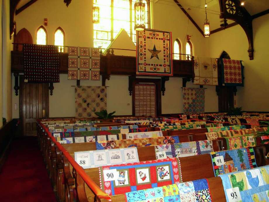 """The 10th anniversary """"Fabrics & Fabrications"""" quilt exhibit takes place Thursday, March 1, through Saturday, March 3, at Southport Congregational Chuch, featuring more than 130 new and vintage quilts. Photo: Contributed Photo"""