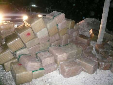 March 2, 2012: U.S. Border Patrol agents from the Rio Grande Valley Sector confiscated more than 8,000 pounds of marijuana Wednesday in three separate seizures ─ during one of which agents were assaulted by smugglers.  Photo: Courtesy
