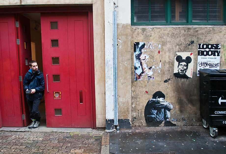 Street art is found hidden in unexpected places throughout LondonÕs East End. Photo: David Swanson