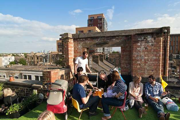 Dalston Roof Park, perched atop an old paint factory. Photo: David Swanson