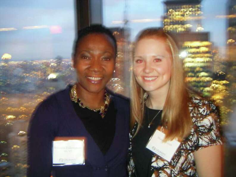 Were you Seen at the reception honoring UAlbany President George M. Philip at the Hearst Tower in Ne